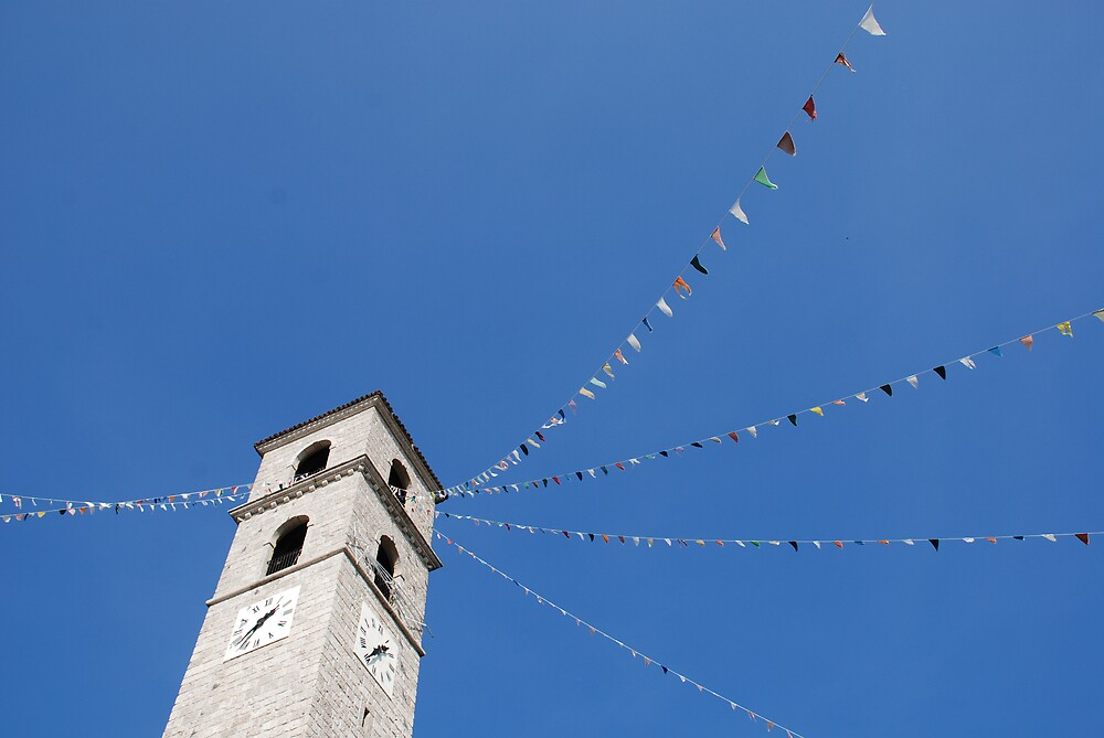 Church with Flags by jojobob