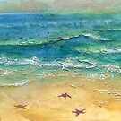 Down by the Beach Mixed Media by Heatherian