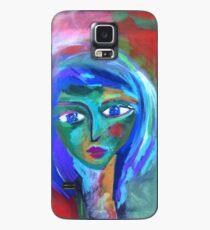 Green Face Case/Skin for Samsung Galaxy
