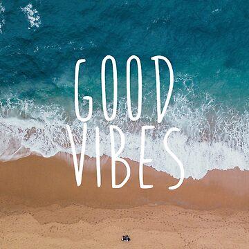 Good Vibes Ocean Tide Beach Design by cea010