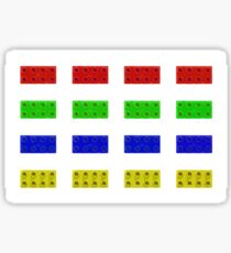 Red, Green, Yellow And Blue Lego Sticker