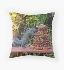 Extermin-Nut! Throw Pillow