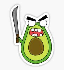 angry zombie avocado Sticker