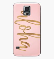 Aloha Pink and Gold Phone Case Case/Skin for Samsung Galaxy
