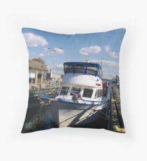 Woman Onboard Throw Pillow