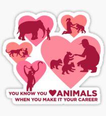 Love Animals - Land Animal Career Sticker
