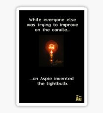 The Aspie & The Lightbulb Sticker