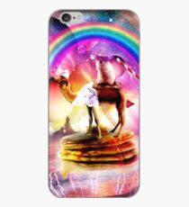 Hamster Riding Camel With Pancakes And Milkshake iPhone Case