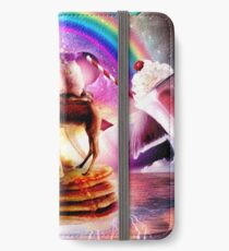 Hamster Riding Camel With Pancakes And Milkshake iPhone Wallet/Case/Skin