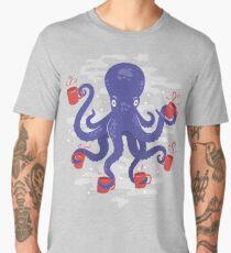 Hipster Caffeine Loving Octopus Men's Premium T-Shirt