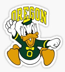 Oregon Donald Duck Sticker