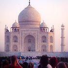 Pre Dawn Tourists At Taj Mahal by Neha  Gupta