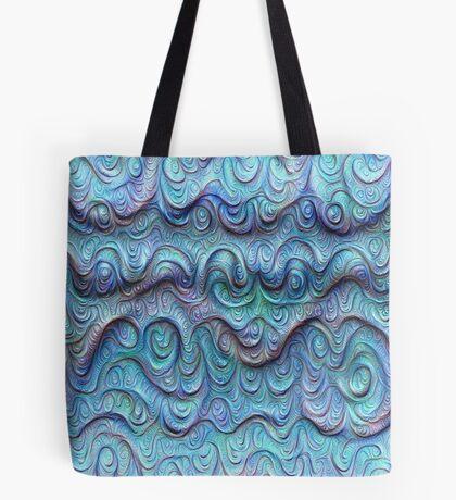 Frozen sea liquid lines and waves #DeepDream Tote Bag
