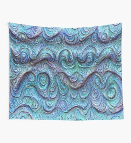 Frozen sea liquid lines and waves #DeepDream Wall Tapestry