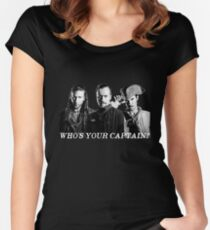 Who's Your Captain? Women's Fitted Scoop T-Shirt