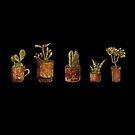 Aquarell Topfpflanzen von undergrass