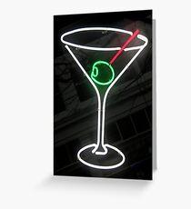 Neon Cocktail Greeting Card