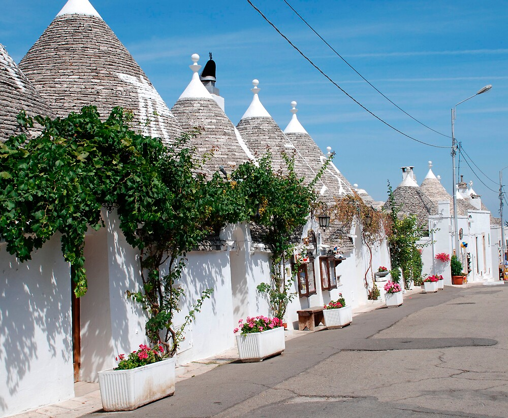 Trullo Street with Grape Vines by jojobob