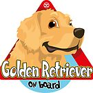 Golden Retriever On Board by DoggyGraphics