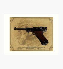 Luger Parabellum Pistole 1908 Art Print