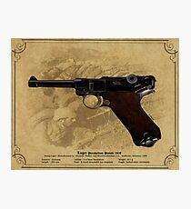 Luger Parabellum Pistole 1908 Photographic Print