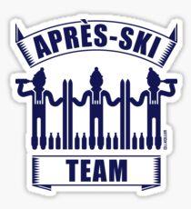 Après-Ski Team (Ski / Party / Beer / Navy) Sticker