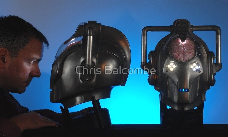 Doctor Who Cybermen Heads by Chris Balcombe