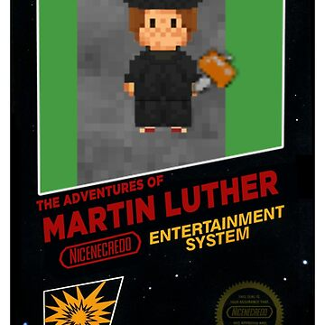 Martin Luther 8-Bit Video Game Box Art by TheologyThreads