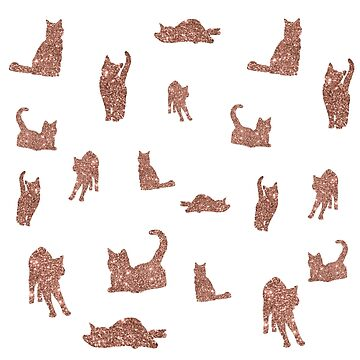 I Love Glitter I Love Cat Pattern by tobiasfonseca