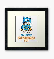 My Little Superhero Boy - Superboy - Boy Power Framed Print