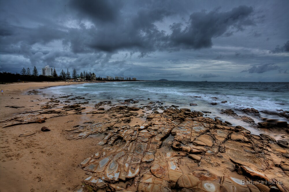 Rocks, Sand, Sea and Clouds-0002HDR by Barbara Harris