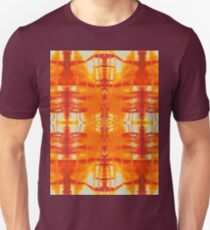 orange and gold watercolor drips T-Shirt