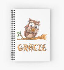 Gracie Owl Spiral Notebook