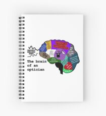 The Brain of an Optician Spiral Notebook