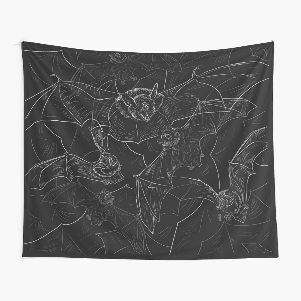 Bat Attack Wall Tapestry