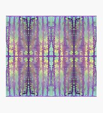 aqua and violet dripping stripes Photographic Print