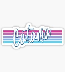 Catania Vintage Retro 70s Throwback Sticker