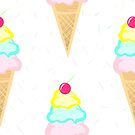 Ice Cream Pattern by JustTheBeginning-x (Tori)