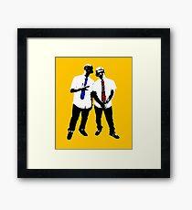 8 bit friendship Framed Print