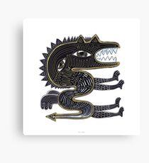 decorative surreal dragon Canvas Print
