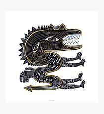 decorative surreal dragon Photographic Print