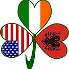 Albanian Shamrock Flag by AuntieShoe
