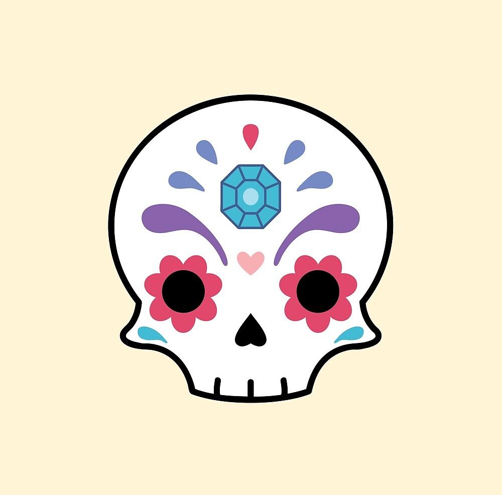 Cute sugar skull diamond\