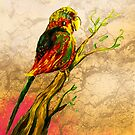 Bird on a Branch by Extreme-Fantasy