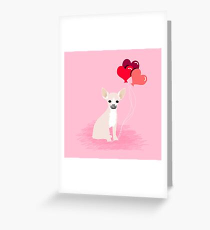 Chihuahua love hearts valentines day cute gifts for chiwawa lovers pet must haves Greeting Card