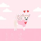 Chihuahua white love hearts valentines day cute gifts for chiwawa lovers pet must haves by PetFriendly