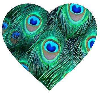 Peacock heart by Penguin86