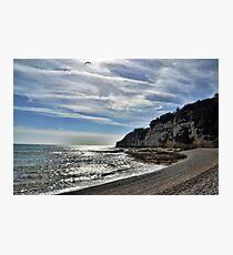 Cliffs at Beer Devon UK Photographic Print
