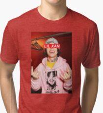 Lil Xan Supreme Design   UK Merch   Xanarchy Merchandise  Tri-blend T-Shirt