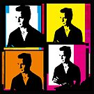 JACK KEROUAC (Warhol-style 4-up collage illustration) by Clifford Hayes